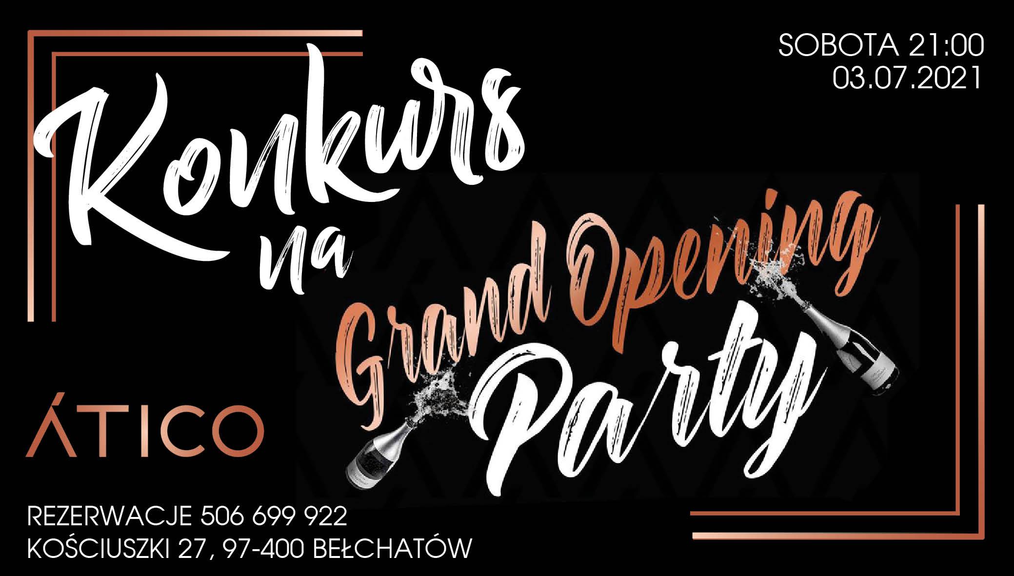 Już w najbliższą sobotę otwarcie nowego klubu w Bełchatowie - Atico. Wygraj wejściówki i drinka! - Zdjęcie główne