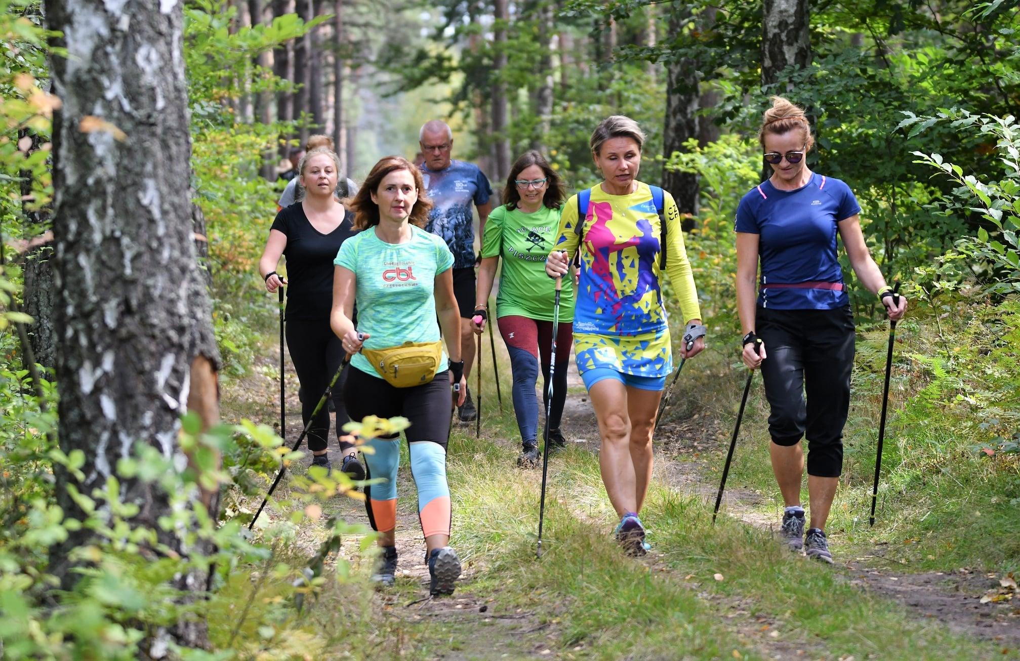 Wspólny spacer, zabawa i ognisko. Fani Nordic Walking na ogólnopolskim treningu w Bełchatowie [FOTO] - Zdjęcie główne