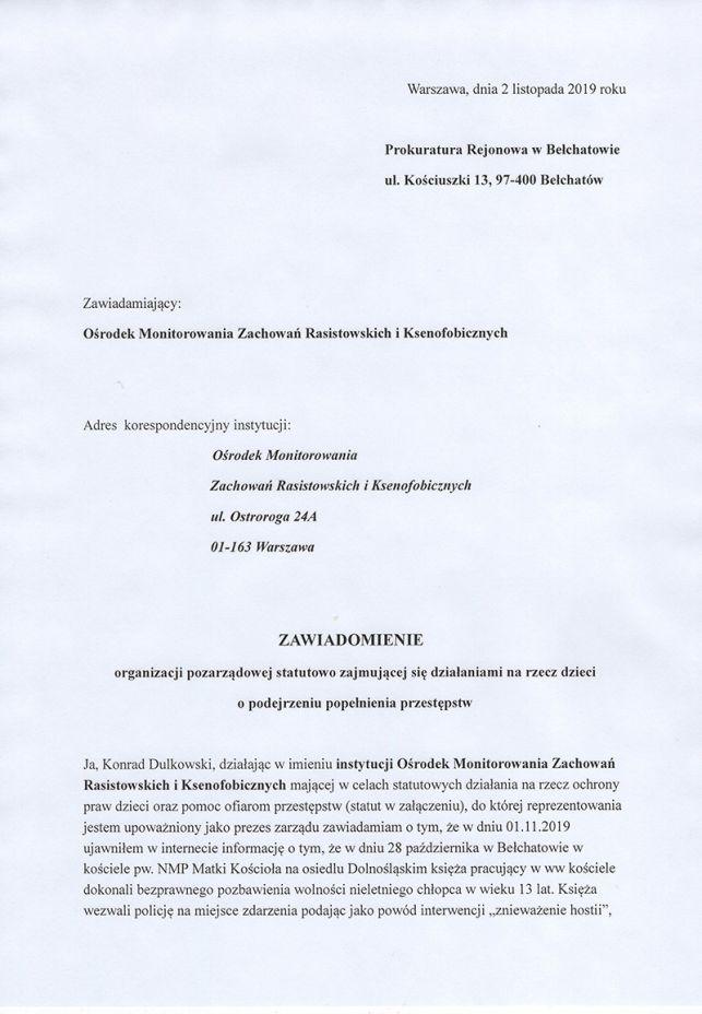 Kuria skomentowała zachowanie bełchatowskich księży wobec 13-latka. Czy biskup podejmie działania? - Zdjęcie główne