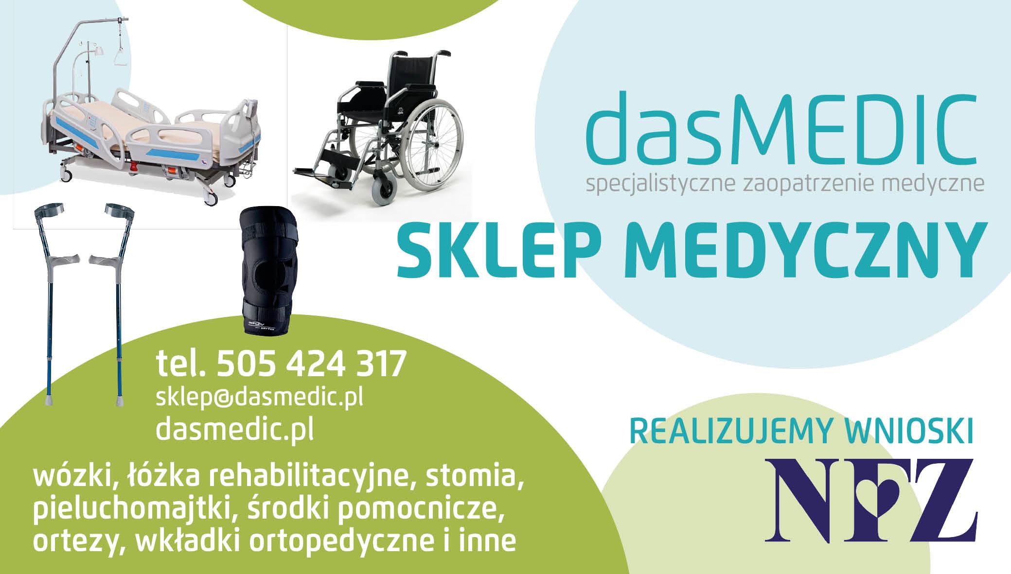 Nowy sklep Medyczny Das Medic w Bełchatowie przy ul. Wojska Polskiego 40 - Zdjęcie główne