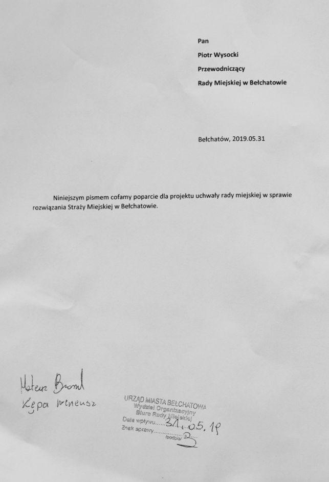 Radni Broncel i Kępa zmieniają zdanie w sprawie likwidacji Straży Miejskiej w Bełchatowie. Marcin Rzepecki straszy prokuraturą [VIDEO] - Zdjęcie główne