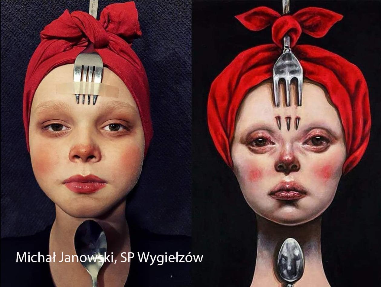 Niewiarygodne! Uczniowie z gminy Bełchatów zamienili się w postacie ze słynnych obrazów. Zobacz te niezwykłe prace  [FOTO] - Zdjęcie główne
