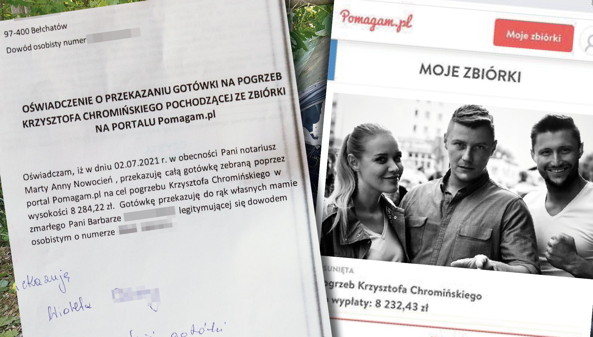 Pieniądze trafiły do mamy zmarłego aktora z Bełchatowa. Organizatorka zbiórki pokazuje dokumenty - Zdjęcie główne