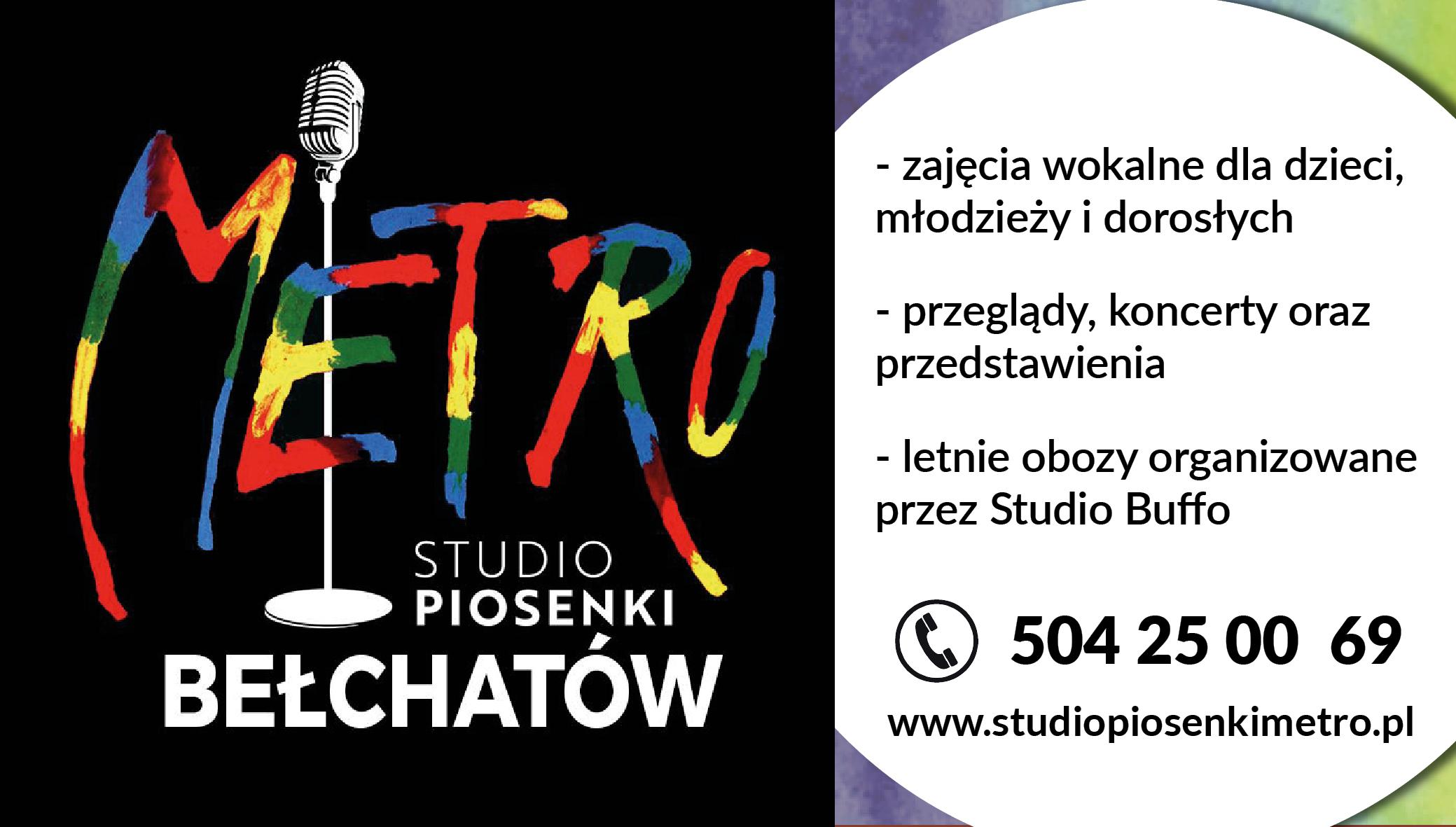 Trwa nabór do Studio Piosenki Metro w Bełchatowie! - Zdjęcie główne