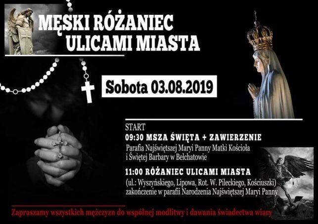 """""""Męski Różaniec"""" przejdzie ulicami Bełchatowa - Zdjęcie główne"""