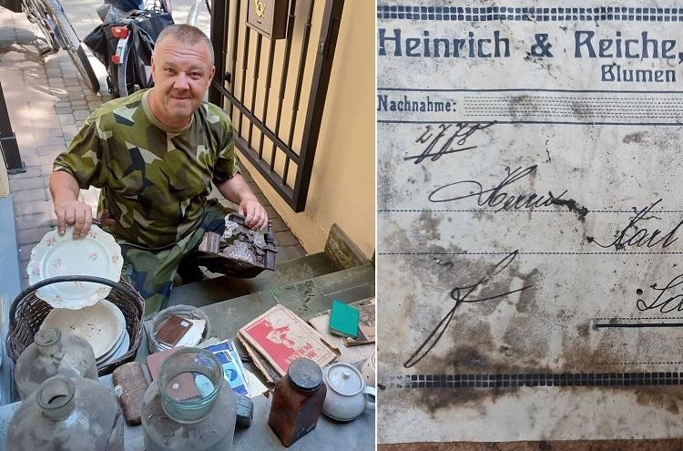 Historyczne ''skarby'' przy bunkrze koło Bełchatowa. Co znaleźli rowerzyści? [FOTO] - Zdjęcie główne