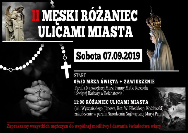 Mężczyźni z różańcami w dłoniach kolejny raz przejdą ulicami Bełchatowa - Zdjęcie główne