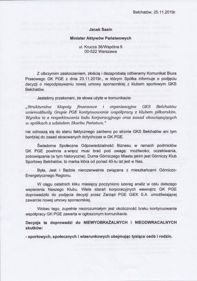 Związkowcy krytykują działanie PGE. W ostrych słowach piszą do ministra Sasina - Zdjęcie główne