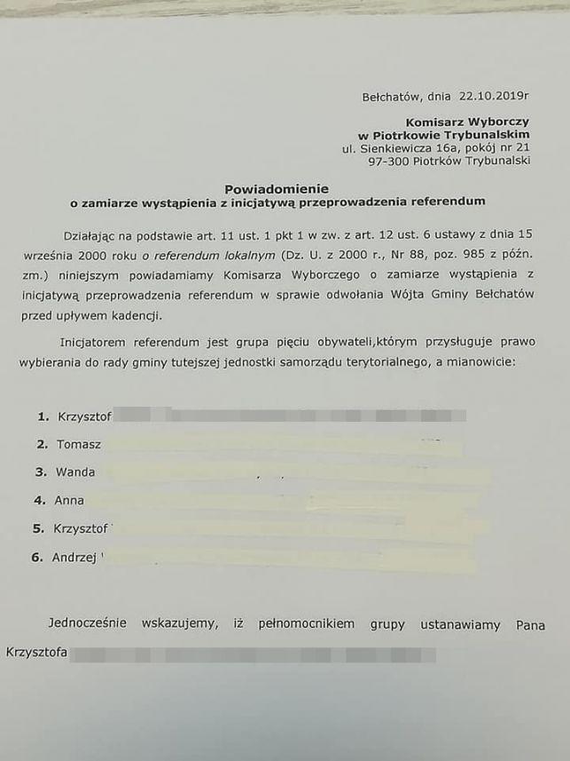 Chcą odwołania wójta gminy Bełchatów. Będzie referendum?  - Zdjęcie główne