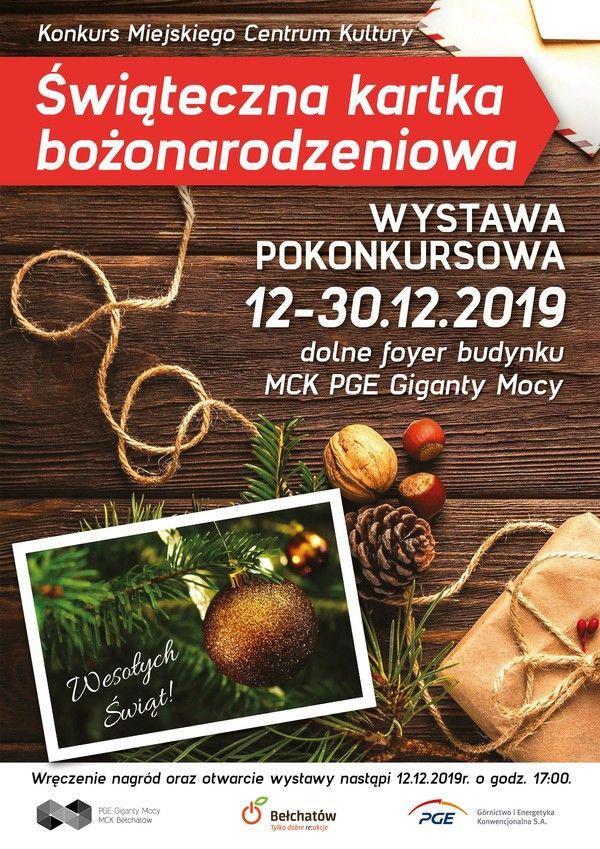 Wystawa pokonkursowa-Świąteczna kartka bożonarodzeniowa -MCK - Zdjęcie główne