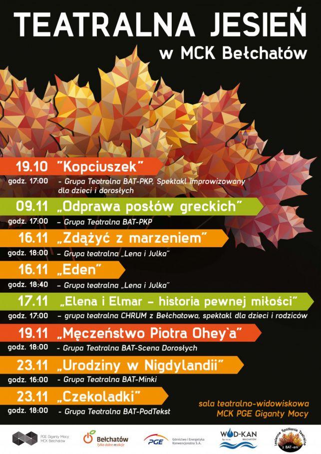 MCK w Bełchatowie zaprasza na XXV Jesienne Spotkania Teatralne z BAT-em.  - Zdjęcie główne
