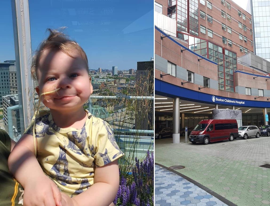Coraz lepsze wieści z USA po operacji Wiktorka z Łękawy. Mama z synkiem wybrali się na spacer do ogrodu  - Zdjęcie główne