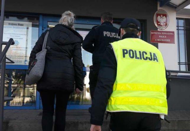 Kobieta spanikowała na widok policjantów z bełchatowskiej komendy. Usłyszała serię zarzutów - Zdjęcie główne