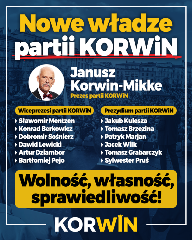 Bełchatowianin, Patryk Marjan będzie współrządził sejmową partią razem z Korwinem-Mikke - Zdjęcie główne