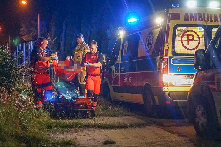 Karetki i straż pożarna z drabiną pod wiaduktem. Pijane nastolatki potrzebowały pomocy [FOTO] - Zdjęcie główne