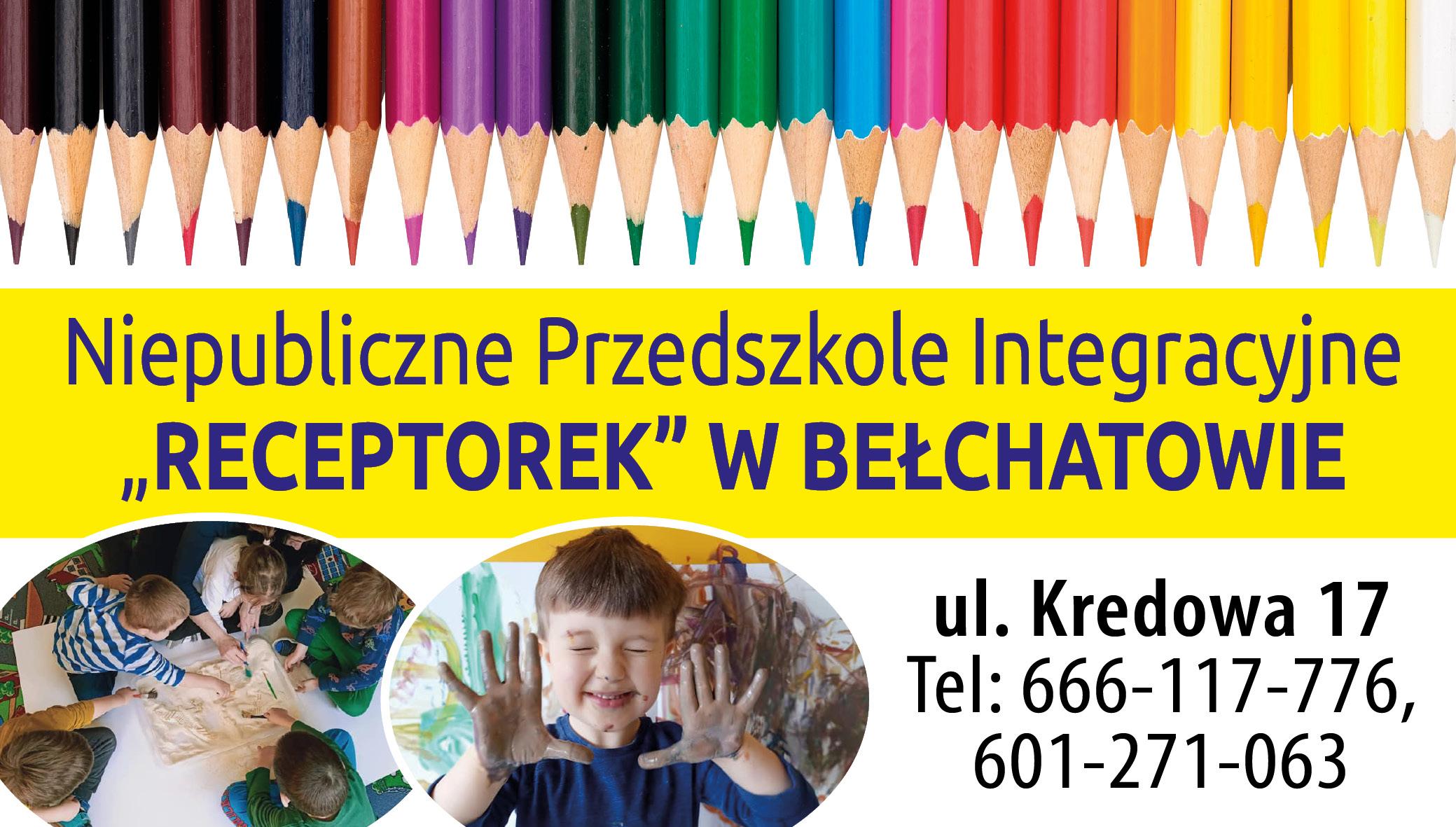 """Niepubliczne Przedszkole Integracyjne """"RECEPTOREK"""" W BEŁCHATOWIE - Zdjęcie główne"""