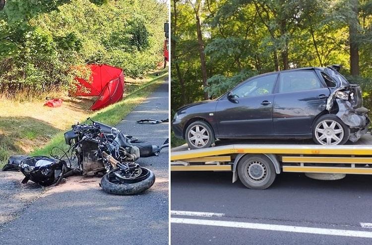 Śmiertelny wypadek motocyklisty w gminie Rusiec. Co ustaliła policja?  - Zdjęcie główne