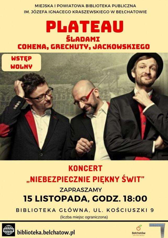 Koncert PLATEAU śladami : Cohena, Grechuty i Jackowskiego - Zdjęcie główne