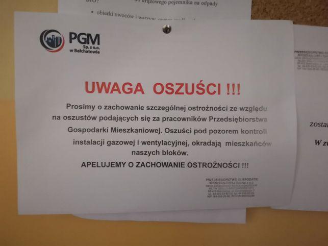 PGM ostrzega - uważajcie na oszustów! Chcą wejść do waszych do mieszkań, żeby... - Zdjęcie główne