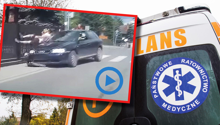 Dramatyczny film z wypadku. Audi wjechało w 23-latka z powiatu bełchatowskiego [VIDEO] - Zdjęcie główne