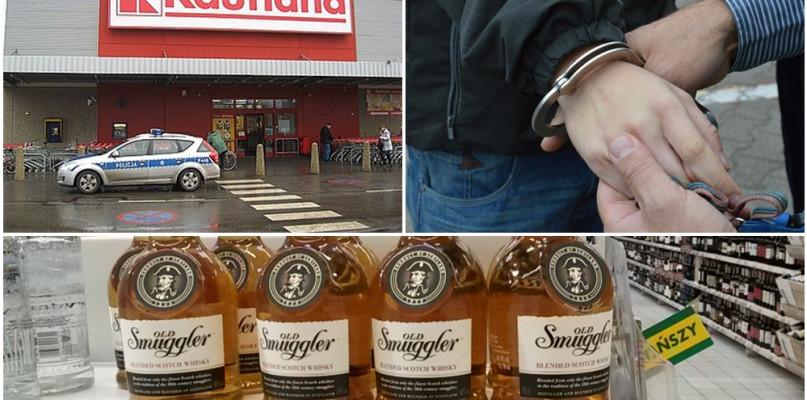 Rozbój w Kauflandzie: nastolatek ukradł whisky i pobił ochroniarza - Zdjęcie główne