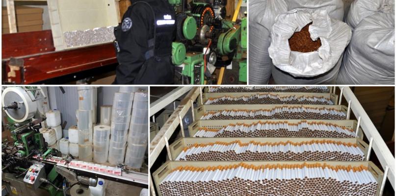 CBŚP w akcji. Nielegalna fabryka produkowała milion sztuk papierosów dziennie - Zdjęcie główne
