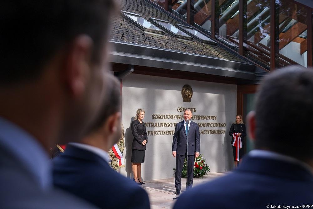 Prezydent RP pod Gostyninem. Odwiedził ośrodek szkolno-konferencyjny CBA [ZDJĘCIA] - Zdjęcie główne