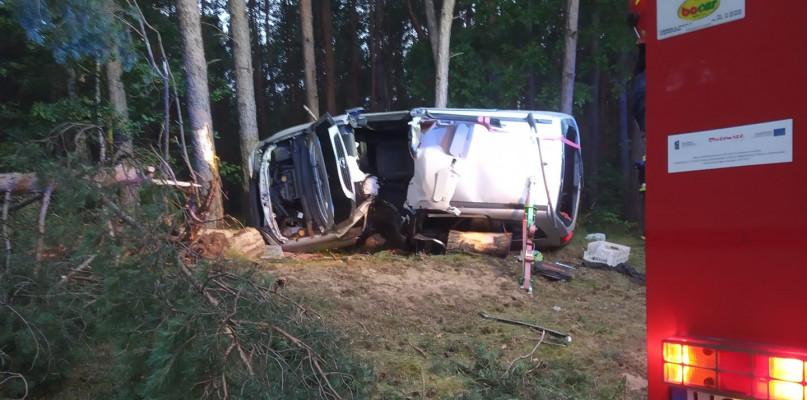 Wypadł z drogi i uderzył w drzewa. Kierowca w ciężkim stanie! - Zdjęcie główne