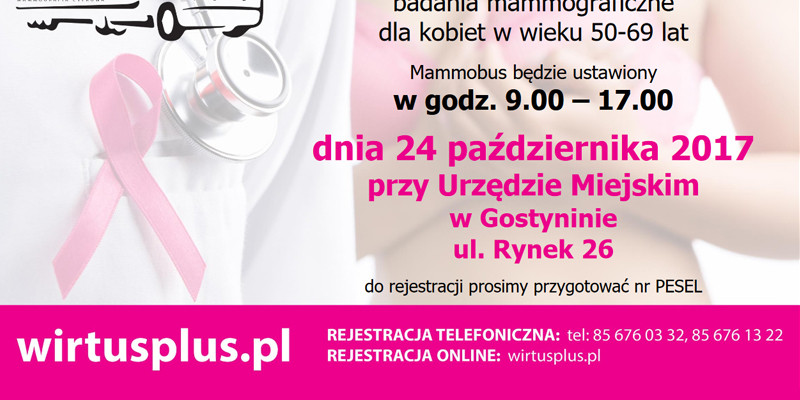 Zapraszamy na bezpłatne badania mammograficzne - Zdjęcie główne