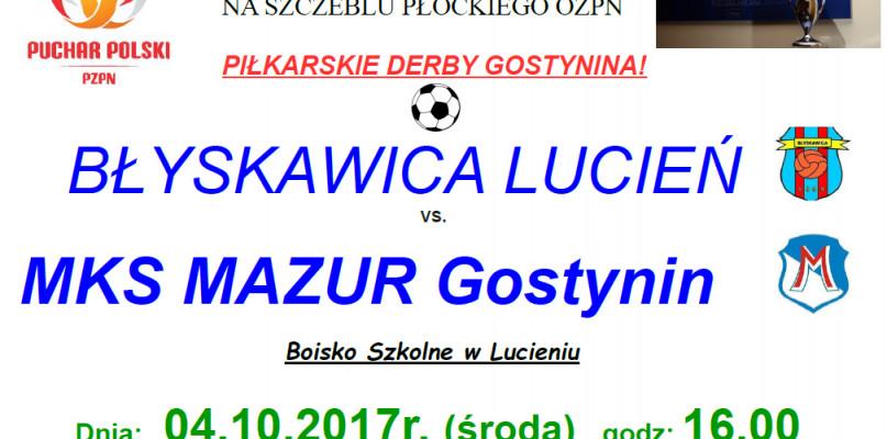 Zaproszenie na 1/2 Finału Pucharu Polski Płockiego OZPN - Zdjęcie główne