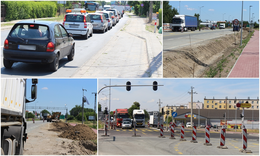 [ZDJĘCIA] Ogromne korki na Łąkoszynie, trwa przebudowa skrzyżowania. Jak idą prace? - Zdjęcie główne