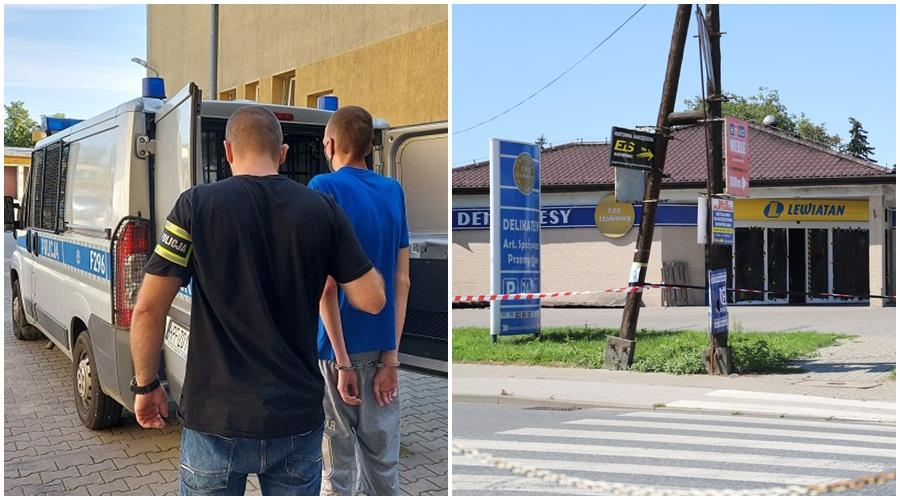 Podpalenie kutnowskiego sklepu: podejrzany już jest za kratkami [ZDJĘCIA] - Zdjęcie główne