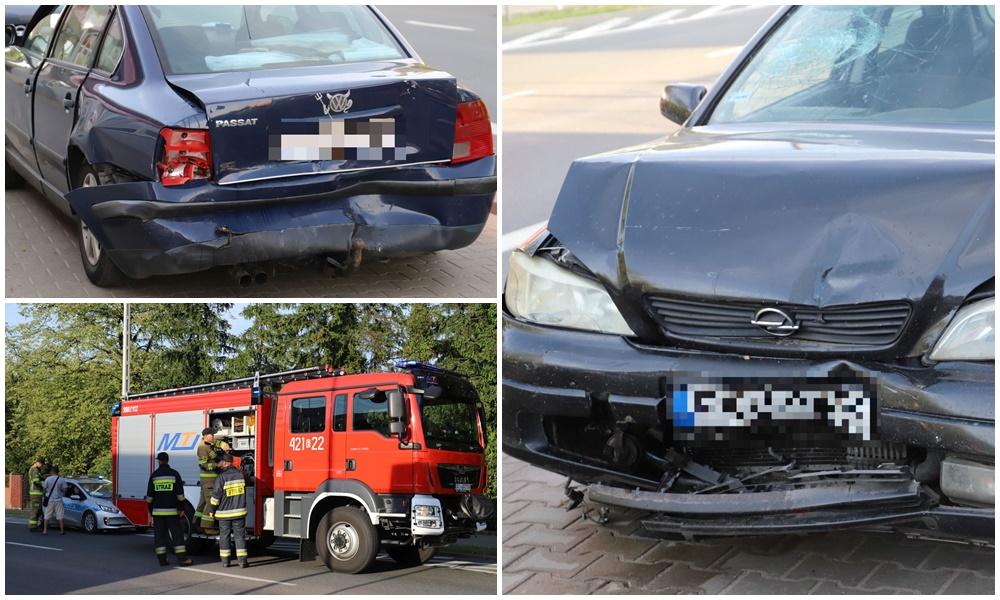 Kraksa z udziałem dwóch aut na Łęczyckiej. Są utrudnienia w ruchu [ZDJĘCIA] - Zdjęcie główne