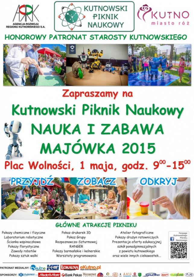 """Pod naszym patronatem: Kutnowski Piknik Naukowy """"Nauka i Zabawa - Majówka 2015"""" - Zdjęcie główne"""