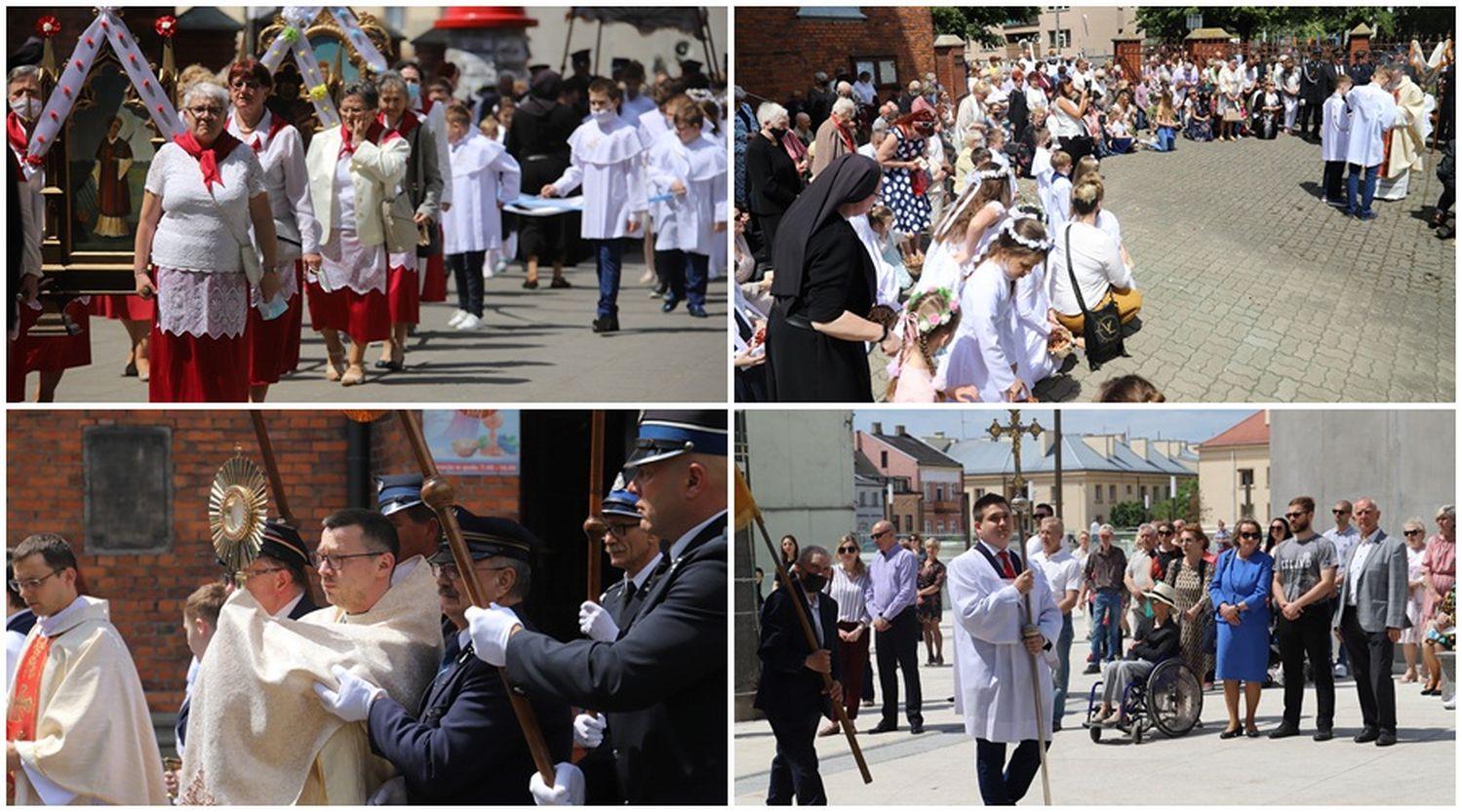 Procesja Bożego Ciała w centrum Kutna. Wierni przeszli wokół kościoła [ZDJĘCIA] - Zdjęcie główne