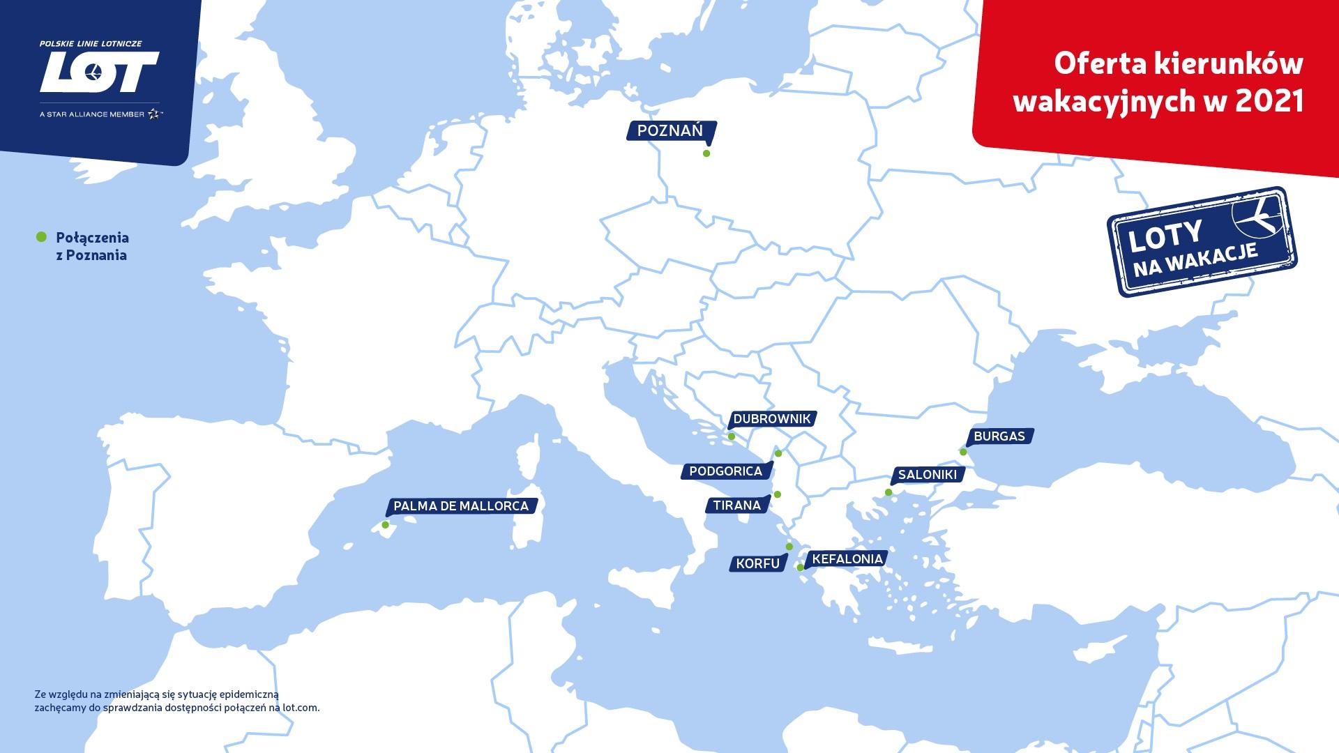 Wakacyjne kierunki LOT-u bezpośrednio z Poznania już od końca maja  - Zdjęcie główne