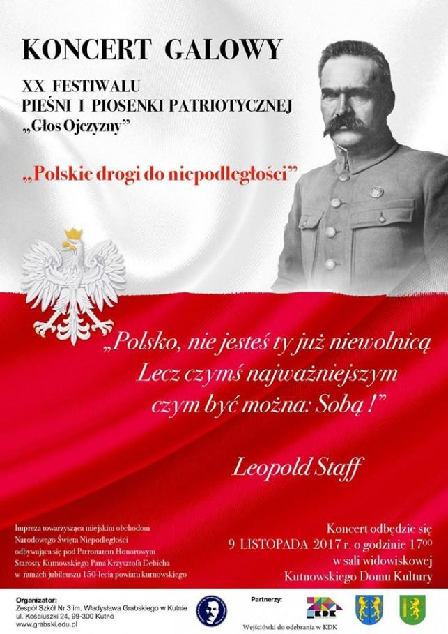 """XX Festiwal Pieśni i Piosenki Patriotycznej """"Głos Ojczyzny"""" - koncert galowy - Zdjęcie główne"""