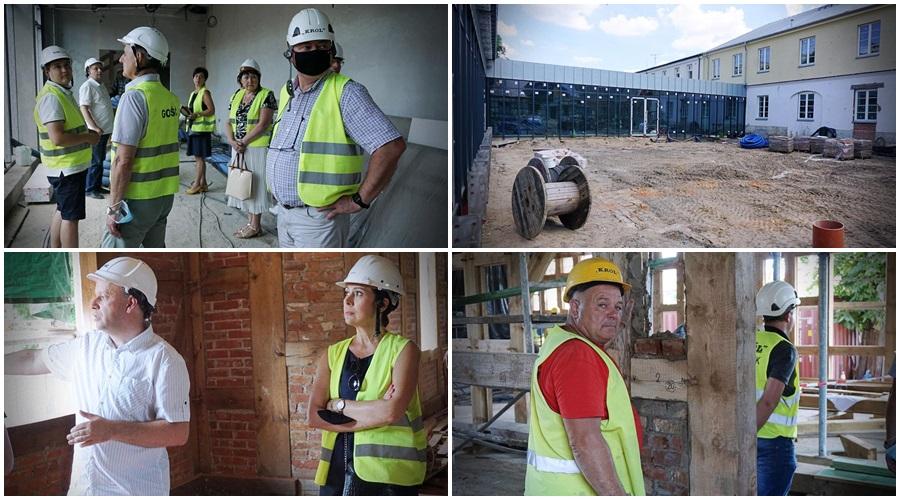 Radni i wiceprezydent Kutna odwiedzają Pałac Saski. Jak idą prace? [ZDJĘCIA/WIDEO] - Zdjęcie główne
