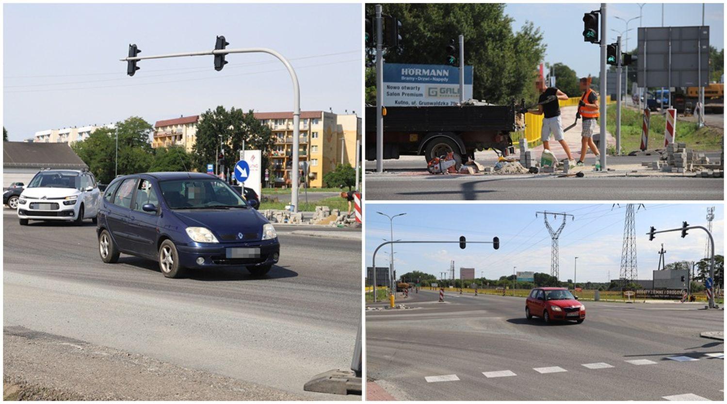 Ulga dla kierowców. Koniec korków, skrzyżowanie na kutnowskim Łąkoszynie przejezdne [ZDJĘCIA/WIDEO] - Zdjęcie główne