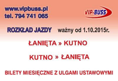 VIP-BUSS - nowy rozkład jazdy od 1 października 2015 - Zdjęcie główne