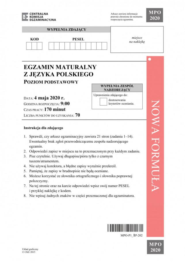Matura z języka polskiego: Mamy arkusze poziomu podstawowego - Zdjęcie główne