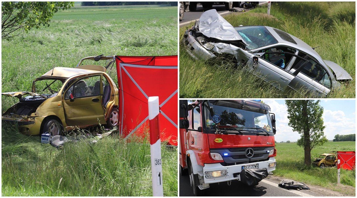 Śmierć dwóch osób. Tragiczny wypadek między Kutnem a Łowiczem [ZDJĘCIA] - Zdjęcie główne