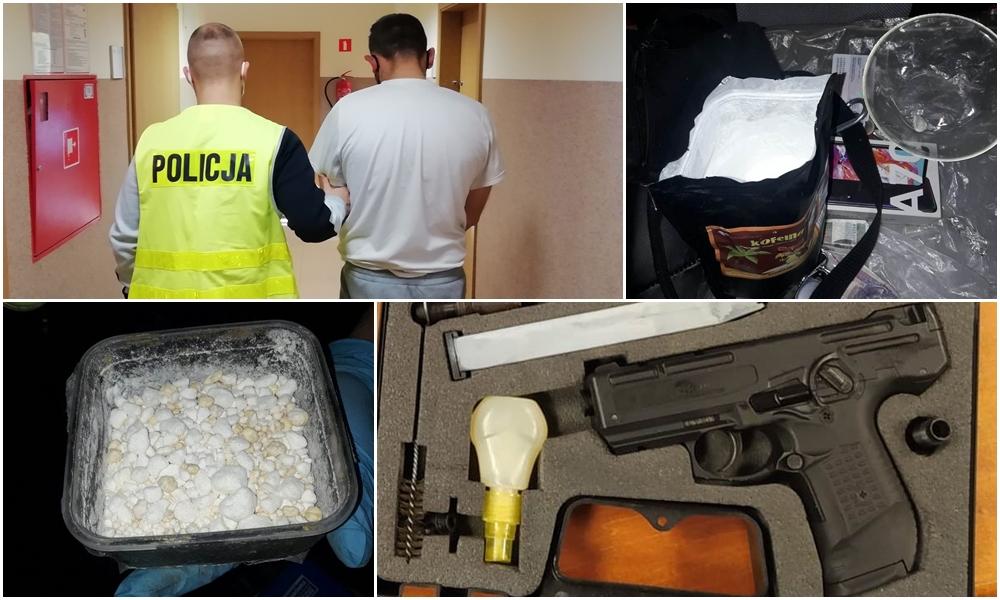 Policja uderza w narkobiznes. Zatrzymano pięć osób, jedna miała broń - Zdjęcie główne
