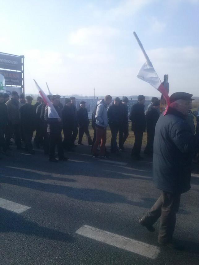 Rolnicy protestują w Łowiczu - Zdjęcie główne