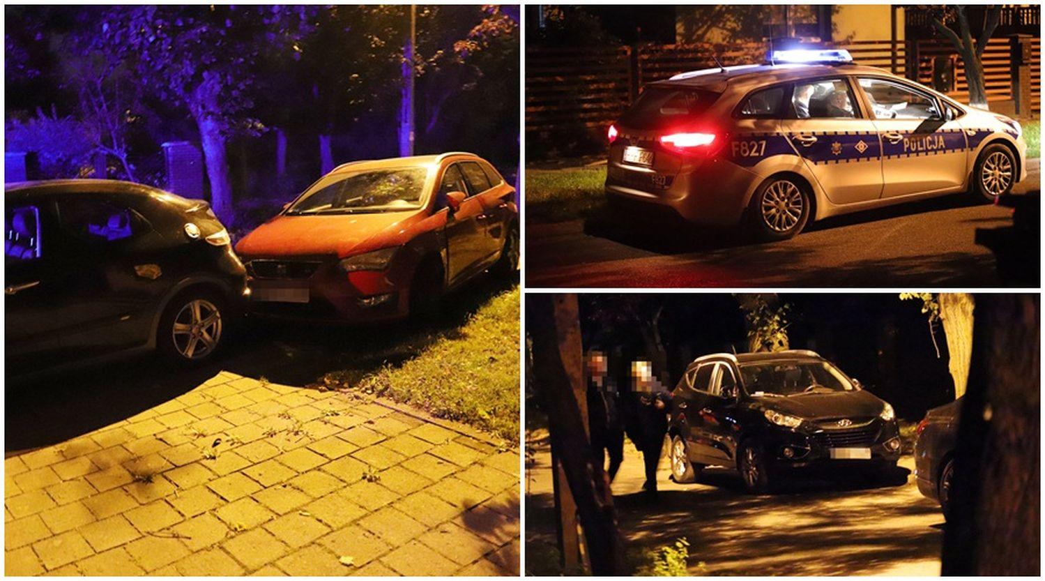 Rozbił samochody zaparkowane w centrum Kutna. Na miejscu policja [ZDJĘCIA] - Zdjęcie główne