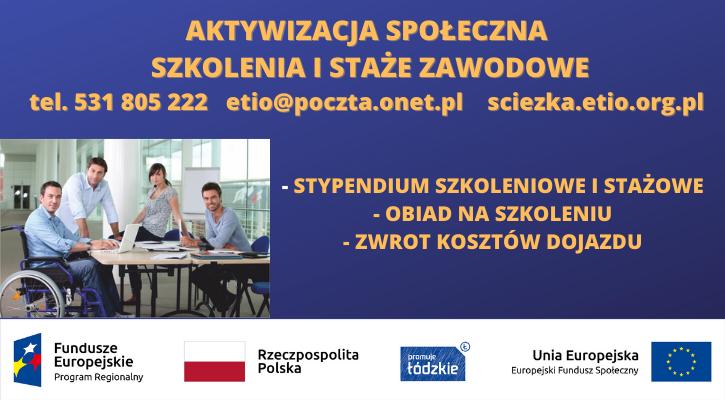 Aktywizacja społeczna - szkolenia i staże zawodowe. - Zdjęcie główne