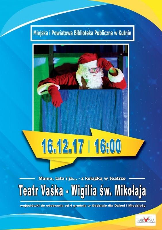 """Spektakl """"Wigilia św. Mikołaja"""" w MiPBP - Zdjęcie główne"""