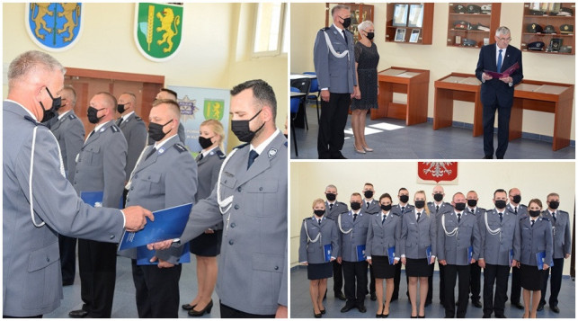[ZDJĘCIA] Awanse, gratulacje i podziękowania. Kutnowscy policjanci świętują - Zdjęcie główne