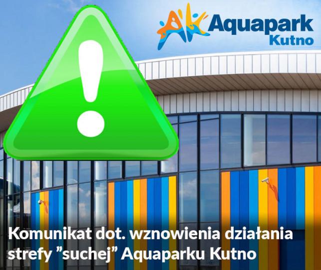 """Aquapark Kutno - wznowienie działania strefy """"suchej"""" - Zdjęcie główne"""