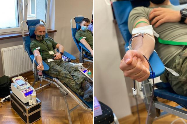 [ZDJĘCIA] Terytorialsi w Kutnie i Łodzi włączyli się w szczytną akcję. Oddali ponad 20 litrów krwi - Zdjęcie główne